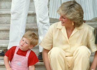 Księżna Diana z synem Harrym