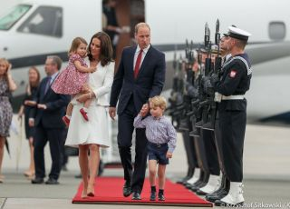 Księżna Kate i książę William z dziećmi w Polsce