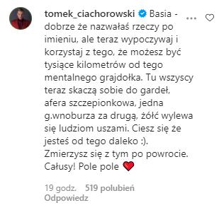 Tomasz Ciachorowski wspiera Kurdej-Szatan
