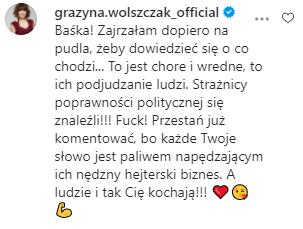 Grażyna Wolszczak wspiera Kurdej-Szatan
