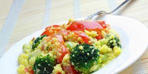 kuskus, warzywa, sałatka