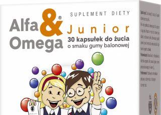 kwasy omega, Alfa&Omega Junior, suplementy diety dla dzieci