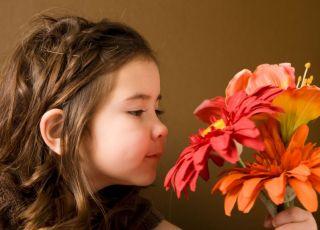 kwiaty, dziecko