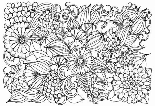 kwiaty kolorowanki antystresowa