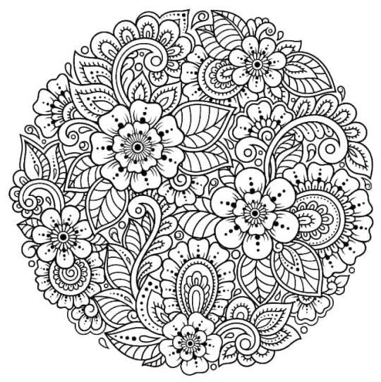 kwiaty kolorowanki szczegółowa