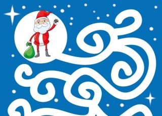 Labirynty dla dzieci na Boże Narodzenie