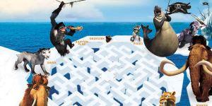 labirynt, epoka lodowcowa, gra dla dzieci, labirynt dla dzieci