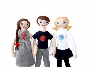 Lalanka, lalki szyte ręcznie, folkowe zabawki, Polek