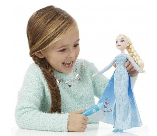 lalka Elsa z magiczną różdżką