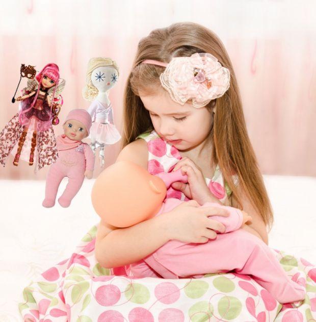 lalki, zbawki, dziewczynka