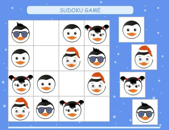 łamigłówki dla dzieci sudoku