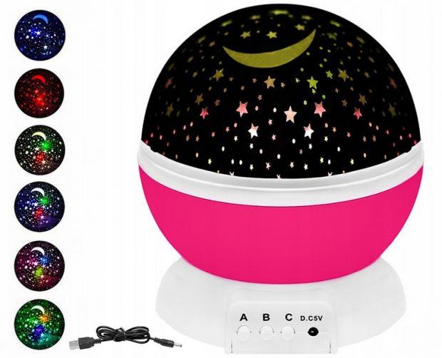 lampka nocna dla dzieci projektor