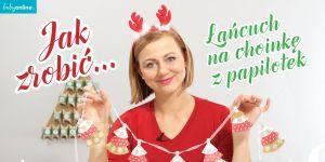 łancuch na choinkę z papilotek, jak zrobić ozdoby na chinkę, jak zrobić ozdoby świąteczne