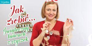 łańcuch na choinkę z szyszek, jak zrobić ozdoby chionkowe, jak zrobić ozdoby świąteczne