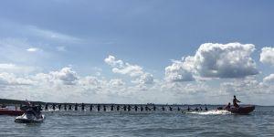 Łańcuch życia na plaży w Międzyzdrojach