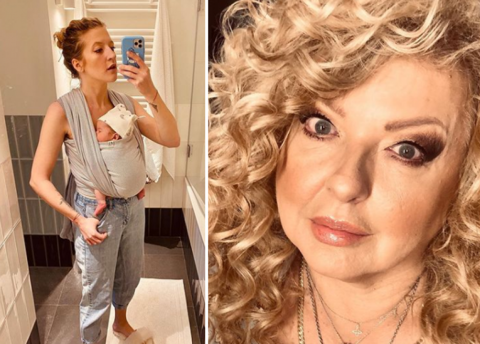 Lara Gessler karmi córkę piersią