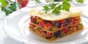 lasagne, lazania, warzywa, cukinia, bakłażan