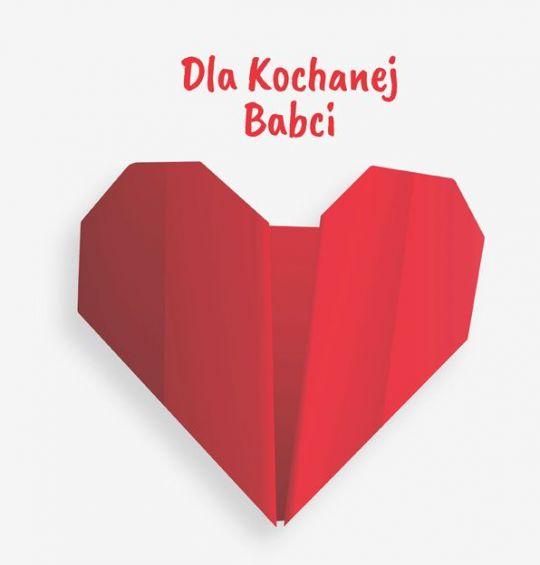 Laurka dla babci origami serce