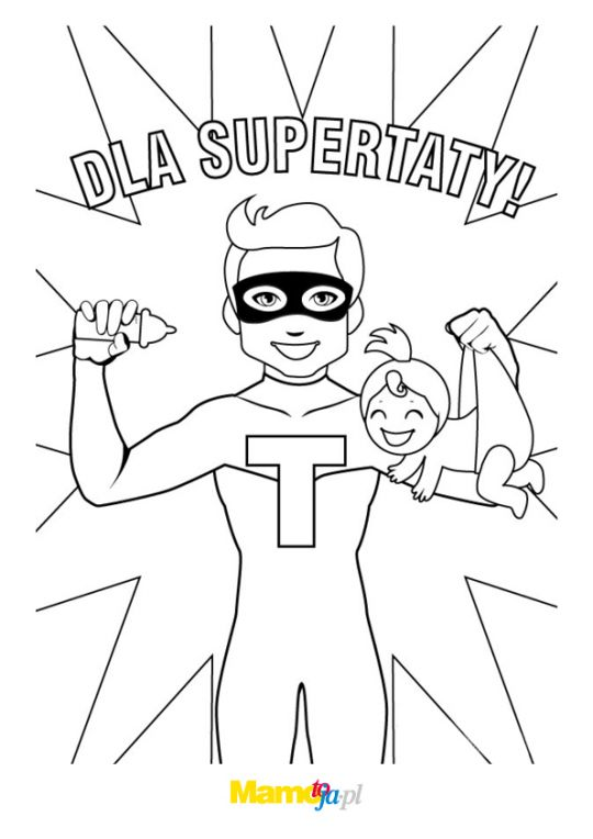 laurka dla taty z superbohaterem