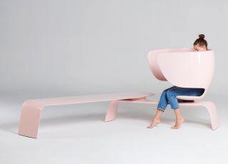 ławka do karmienia piersią - różowy innowacyjny design 52hours