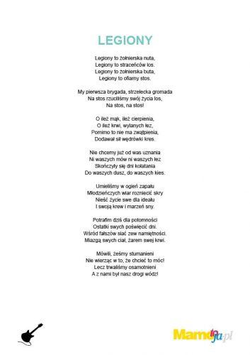 piosenki patriotyczne dla dzieci Legiony