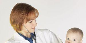 lekarz, niemowlę, badanie