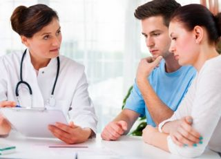 lekarz, para, wizyta lekarska, badanie, kobieta, mężczyzna