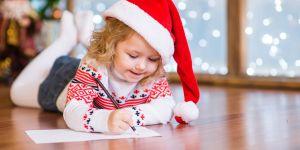 list do świętego mikołaja, dziecko pisze list