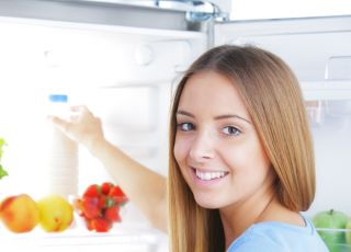 lodówka, kobieta, dieta
