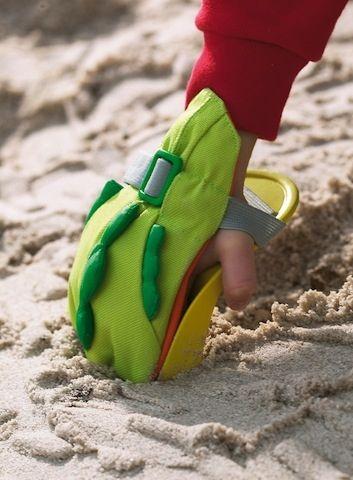 Łopatka-rękawica do zabawy w piasku