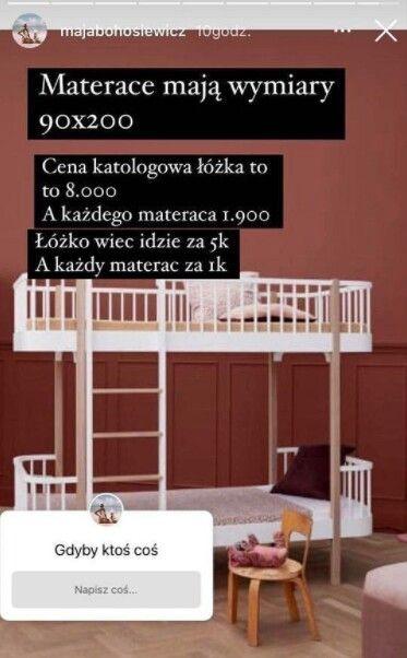 łóżeczko dla dziecka Mai Bohosiewicz, Instagram/majabohosiewicz