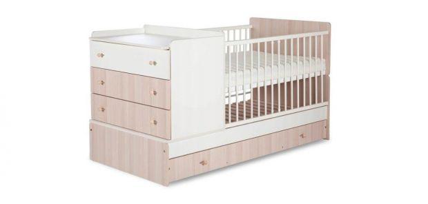 łóżeczko dla niemowlaka z komodą