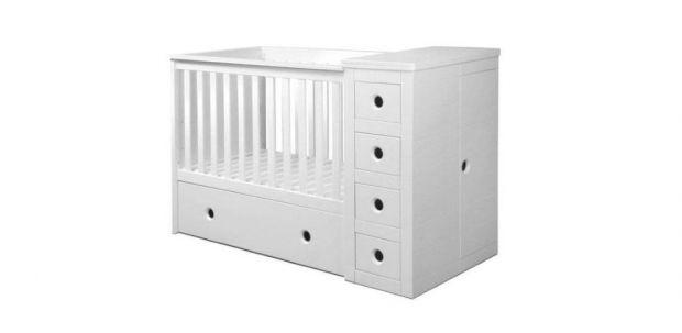 łóżeczko dla niemowlaka z przewijakiem