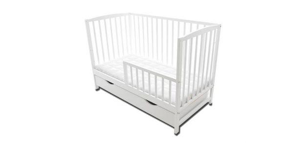 łóżeczko dla niemowlaka z dostawką