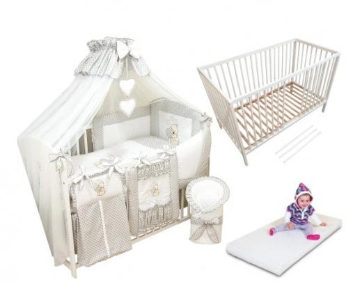 łóżeczko dla niemowlaka z baldachimem