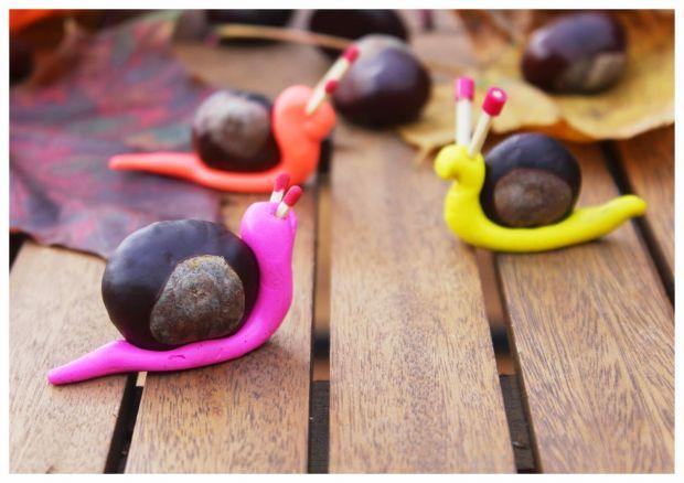 kasztany prace plastyczne: ślimaki