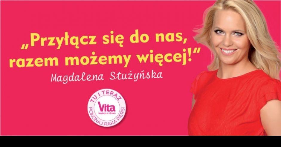 Magdalena Stużyńska, pokonaj raka piersi, akcja Vita