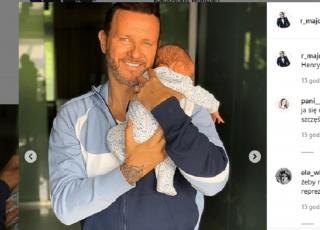 Majdan opiekuje się synkiem