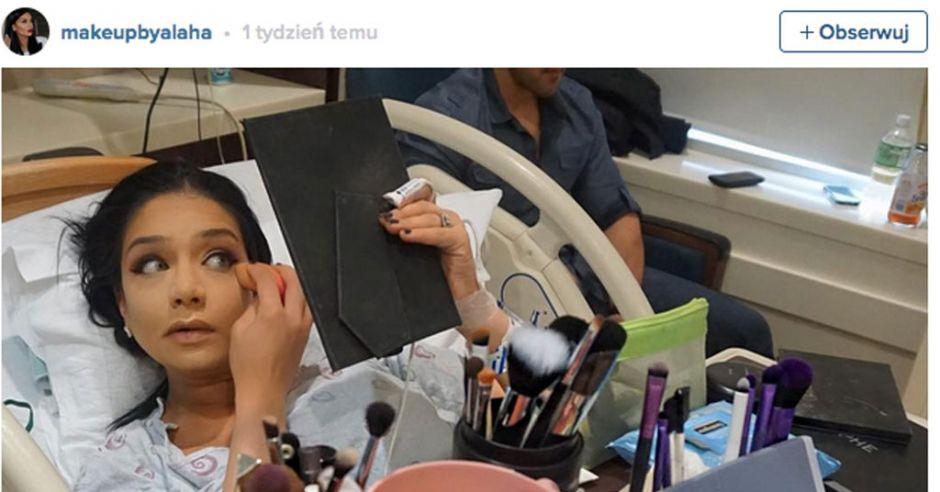 makijaz podczas porodu