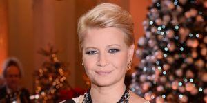 Małgorzata Kożuchowska podczas koncertu kolęd na gali Szlachetna Paczka w Pałacu Prezydenckim