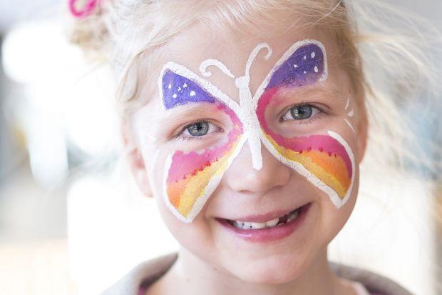 Malowanie twarzy wzory - motyl