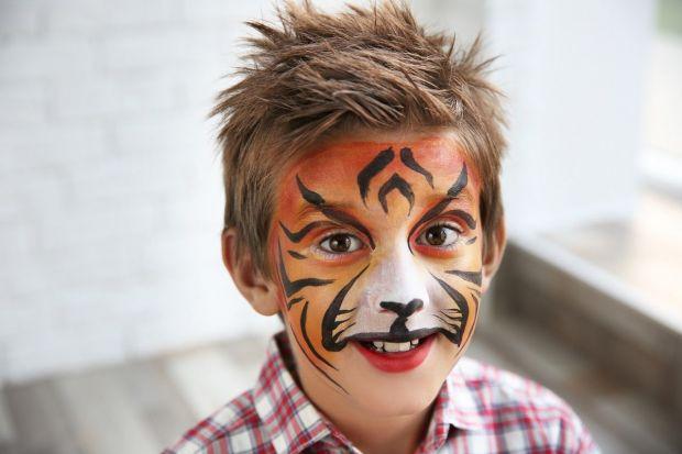 Malowanie twarzy wzory - tygrys