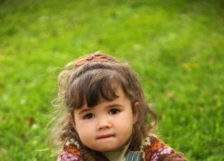 maluch, dziewczynka, jesień, dynia, kuchnia, trawa