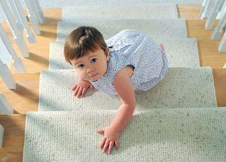 maluch, schody, dziecko, rozwój