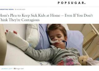 Mama apeluje do rodziców o rozwagę i pokazuje zdjęcie chorej córki