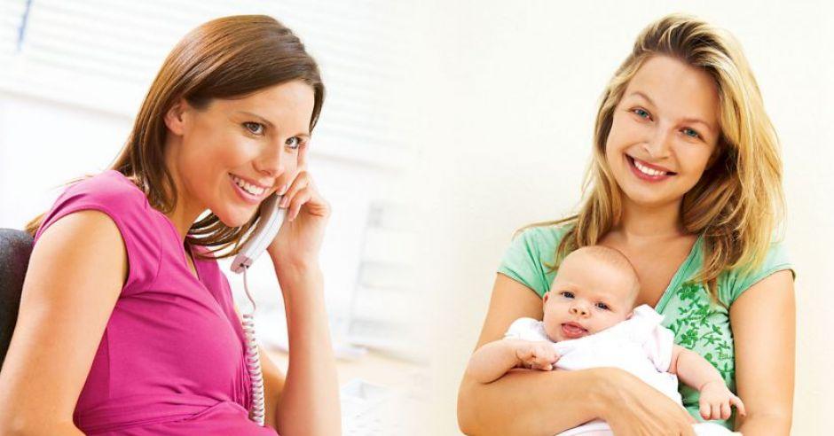 mama, ciąża, niemowlę, kobieta, dziecko, praca
