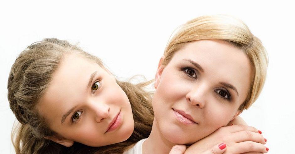mama, córka, radość, emocje