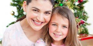 mama, dziecko, dziewczynka, święta, Boże Narodzenie