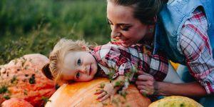 mama, dziecko i dynia BLW