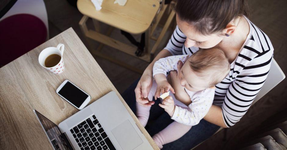 mama, dziecko, nauka, komputer, studia